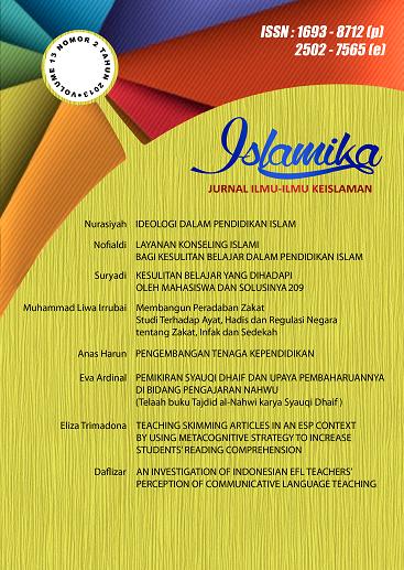 View Vol. 13 No. 2 (2013):  Islamika : Jurnal Ilmu-ilmu Keislaman