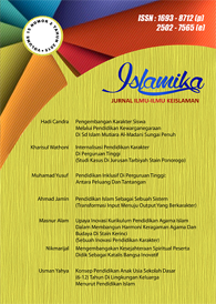 View Vol. 20 No. 01 (2020): Jurnal Islamika Volume 20 No 01