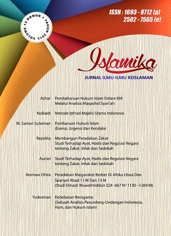 View Vol. 13 No. 1 (2013):  Islamika : Jurnal Ilmu-ilmu Keislaman